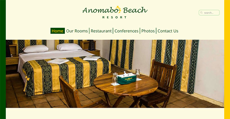 Anomabo Beach Resort Homepage