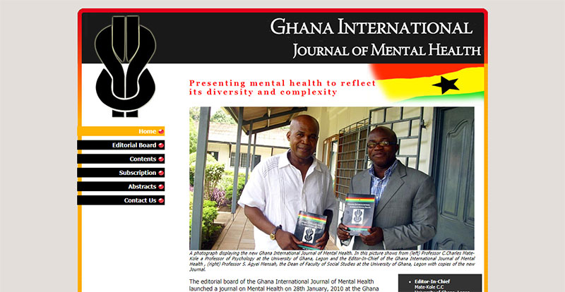 Ghana International Journal of Mental Health Homepage