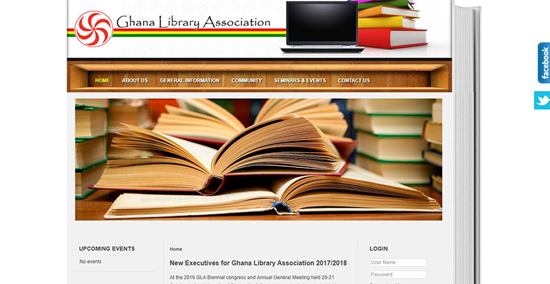 Ghana Library Association Homepage