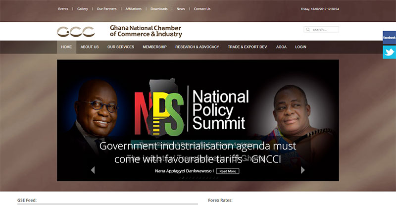 Ghana National Chamber of Commerce and Industry Homepage